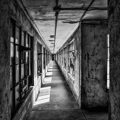 Ellis Island Contagious Disease Wards (johnredin) Tags: bw ellisisland hdr newyork abandoned architecture cities doorswindows shadows