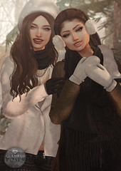 Glamrus . Our Winter AD (Glamrus∆) Tags: cute glamrus friends sister family sisters poses glamrusposes gift group secondlife second life addams zaara catwa letre blueberry adorable winter seasonal skye