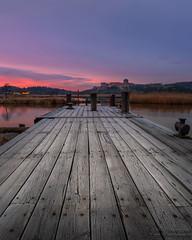 Dusk (johanbe) Tags: sunset dusk twilight skymning night kväll color sky bohus kungälv ale sweden pier brygga landscape reflection solnedgång nikon sigma art wideangle