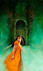 Don't Look Behind You by Enrich Torres (Tom Simpson) Tags: enrichtorres illustration art painting vintage dontlookbehindyou castle woman dress girl