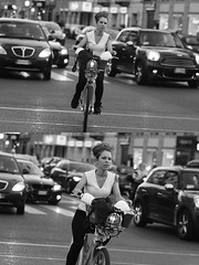 [La Mia Citt][Pedala] con il bikeMi (Urca) Tags: milano italia 2016 bicicletta pedalare ciclista ritrattostradale portrait dittico nikondigitale mir bike bicycle biancoenero blackandwhite bn bw 907120 bikemi bikesharing