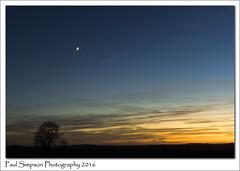 Lincolnshire Sunset (Paul Simpson Photography) Tags: sunset sonya77 nature paulsimpsonphotography imagesof imageof photosof photoof venus space themoon moon tree clouds december2016 winter nightsky sky evening