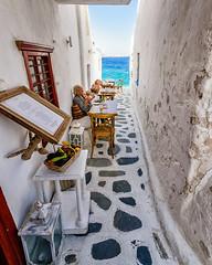 Dining (Kevin R Thornton) Tags: d90 taverna nikon travel restaurant mediterranean greece mykonos architecture street mikonos egeo gr
