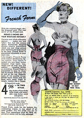 French Form, 1953 girdle ad (Tom Simpson) Tags: vintage 1953 1950s illustration art lingerie girdle ad ads advertising advertisement vintagead vintageads