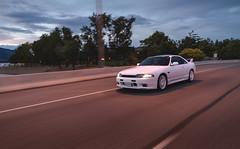 Nissan Skyline GTS-T R33 (eric.vanryswyk) Tags: road street city trees sunset summer sky canada car skyline lights evening nikon nissan outdoor dusk pavement okanagan august automotive columbia british kelowna 20mm nikkor r33 f28 rolling gts gtr r32 r34 gtt d610 r35