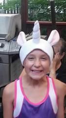 Unicorn headband (c_cruver) Tags: hat handmade homemade earmuffs fleece unicorn headband earwarmers