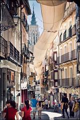 toledo (heavenuphere) Tags: world street city people sun building heritage architecture site spain europe cathedral historic unesco espana toledo shade canopy lamancha castillalamancha 24105mm castilelamancha