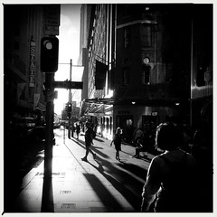 Market Street evenings (Albion Harrison-Naish) Tags: sydney streetphotography australia newsouthwales unedited iphone sooc mobilephotography straightoutofcamera iphoneography sydneystreetphotography hipstamatic aobwfilm iphone5s akiralens albionharrisonnaish
