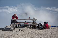 Lunch above the clouds (cokanj) Tags: mountain alps tourism trekking landscape nationalpark outdoor hiking slovenia triglav ecotourism planinarenje planina pejzaz