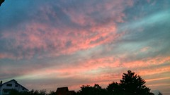 #sky #clouds #pink #yesterday #nature #sunset #view #perfection #skyporn (makimarina88) Tags: pink sunset sky nature clouds view yesterday perfection skyporn