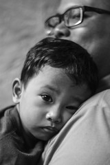 Nap time (Stitch) Tags: lunch nap time father philippines son manila siesta weekly afterlunch
