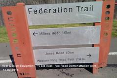 01 Vic Road Federation Trail Demo Work Geelong Rd Brooklyn 11-09-15