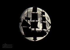 Sailing to the Moon. (solidtext) Tags: moon silhouette south townhall weathervane shields