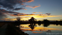 October 19, 2015- Sunset reflections at Broomfield's McKay Lake. (David Canfield)