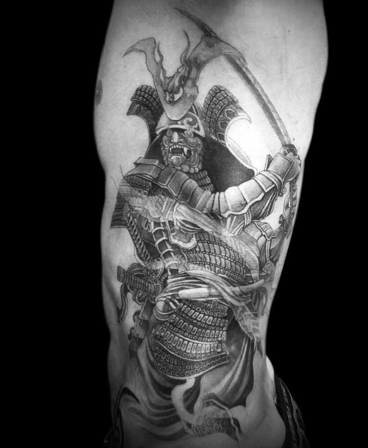 Tatouage Japonais Samourai Dessin Tuer Auf