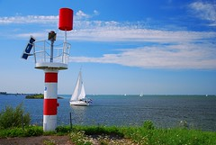 A day on the polders (neil mp) Tags: sea sky cloud lake holland netherlands yacht flag beacon flevoland ijsselmeer almere polders markermeer almerebuiten oostvaardersdijk oostvaardersdiep ijsselmeerpolders southernflevolandpolder