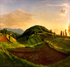 Over the mountains and the sea.....:) again..:) (Katarina 2353) Tags: sunset summer mountain fall film nature field landscape outdoor fantasy valley katarina2353 serbiainspired