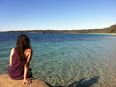 Summer (Michael.Nutt1) Tags: ocean trees summer sky beach water girl beautiful beauty bar jervis iphone