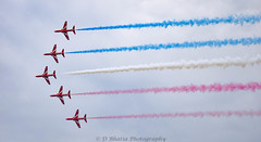 The Red Arrows (db2810) Tags: airplanes airshow entertainment redarrows aeroplanes sunderland