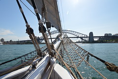 Sailing on Tall ship on Sydney harbour (colinhansen1967) Tags: water sailing ship wind sydney tallships sydneybathurst2015