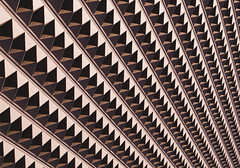 Ottumwa, IA (L. Paul) Tags: abstract building texture geometric lines architecture pattern text iowa structure diagonal ia minimalism ottumwa abstractpattern buildingwallpatternlinessymmetryabstractshadowsottumwaiowa