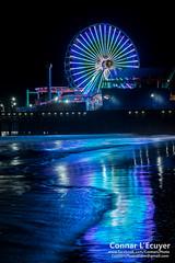 Lighting the Way (Connar L'Ecuyer) Tags: socal night landscape pier wharf city moon space santamonica sea supermoon beach ocean seascape la cityscape astrophotography