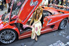 Advertising industry (1018 Jack Wong) Tags: celebrity girl beauty promotion tattoo advertising model exhibition product sales        redsportscar