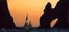 El Arco at Dusk (Pacific Landscapes) Tags: sunset orange beach water sailboat mexico arch dusk pacificocean baja bajacaliforniasur february mx cabosanlucas gulfofcalifornia elarco 22°52547n109°50666w 22°52547′n109°50666′w