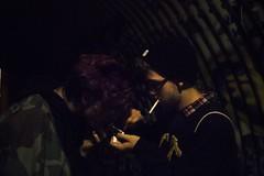 Stephen & Oliver (lordgogurt) Tags: santa light portrait people santacruz face look night canon dark fire person rebel graffiti darkness cigarette smoke tunnel smoking nighttime cruz lighter beanie aesthetic t21 canonrebelt2i