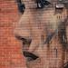 Woman on brick