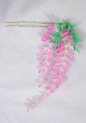 DSCF5832 (EruwaedhielElleth) Tags: flowers flower hair handmade fabric hana accessory tsumami kanzashi zaiku imlothmelui