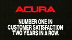 1988 - Commercial - Acura - Number one in customer satisfaction two years in a row! (VideoArcheology) Tags: videoarcheology 1988 commercial acura number one customer satisfaction two years row