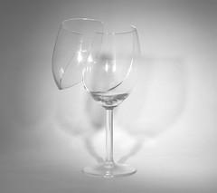 A Clean Break (hutchyp) Tags: wine glass break broken abstract mono blackandwhite monochrome