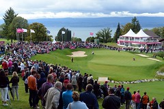 GOLF - THE EVIAN CHAMPIONSHIP 2013 (Inter hotel Alize) Tags: sport 2013 france golf septembre september women evian evianmastersgolfclub ladies lpga lpgatour day7 thirdround finalround hole18 illustration public