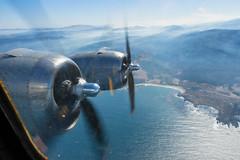 (CarbonNYC [in SF!]) Tags: b29 dwight fifi monterey airplane airplanewindow bomber flight flightseeing landscape plane propellorpropellors view vintage vista window wings