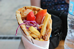 Athens, Greece (erinsamm8) Tags: athens greece europe contikitour contiki plaka athensgreece gyro gyros tomatoes chickengyros frenchfries