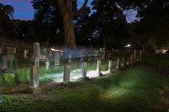 Ghosots of the Cemetery (UnsignedZero) Tags: bluehour california celebrationevent cemetery item mareisland nightmareisland object out outdoor outdoors outside outsides solanocounty time vallejo