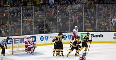 Bruins fans react to #61 Austin Czarnik's goal (Odie M) Tags: nhl hockey icehockey boston tdgarden preseason teamsport sport ice fans crowd celebration hug goal scores redlight bostonbruins detroitredwings jaredcoreau martinfrk austinczarnik colinmiller ryanspooner ryansproul