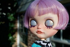 Lennon Outside (Chassy Cat) Tags: eyelid art eyelidart blythe chassycat custom customized customizer simplylilac doll lavender teeth takara lilac