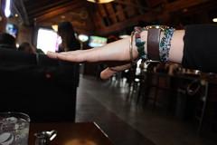 Waitress Brittney...Spreading her wing (Windy City X-Pat) Tags: woman girl hand lefthand waitress watch wristwatch bracelets bracelet