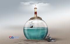 Atellier2 - O Farol (Carlos Atelier2) Tags: carlos atelier2 farol gua mar ancora pastel navio imagem manipulada designer