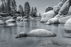 Solitude (Harold Wycoff) Tags: lakes laketahoe sandharbor water longexposure nature blackandwhite bw travel canon canon5diii