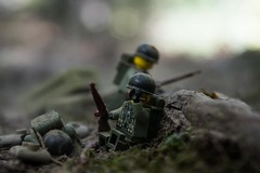 The Hellfire of war leaves its scars and traces of its horror on its occupants. (Eflow Guy) Tags: war lego ww2 ww1 american german mortar battle nikon legoguys hell hellfire