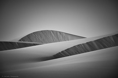 Nature art (Paterdimakis) Tags: nature art sand dunes desert line shape shadow sun sky curve bw black blackwhite blackwhitephotos white landscape arabia qatar fine