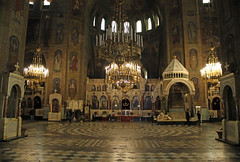 Saint Alexander Nevski Cathedral Sofia Bulgaria (David Russell UK) Tags: st saint alexander nevski nevsky cathedral reigon religious building architecture inside alter guilt work interior art sofia bulgaria city 2016 icon icons paintings lamp lamps chandeliers christian orthodox lighting bulgarian eastern