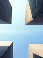 Think about it... (Stoergi) Tags: berlin mahnmal sky himmel licht light symmetrie geometrisch abstrakt outdoor europa europe germany deutschland denkmal mitte berlinmitte memorial