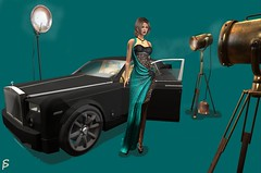 At the shoot (Sophia Paez) Tags: modeling modelling mesh blog blogger bloggers gown car fashion design digital doll avatar event empyrean forge friday glamistry