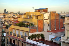 A view from Casa Mila (Yuri Rapoport) Tags: torreagbar casamila lapedrera gaudi barcelona catalonia spain 2013