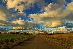 Secret of Life (Matt Champlin) Tags: fall autumn random home life faithhill rural road country nature outdoors beautiful weather skaneateles farm farming canon 2016 thesecretoflife clouds sunset evening