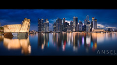 Aruarian Dance (draken413o) Tags: singapore marina bay crystal pavilion city cityscapes night skyline skyscrapers urban places scenes lights amazing asia travel destinations panorama 24mm tse mk2 canon